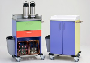 powder-coated beverage trolley