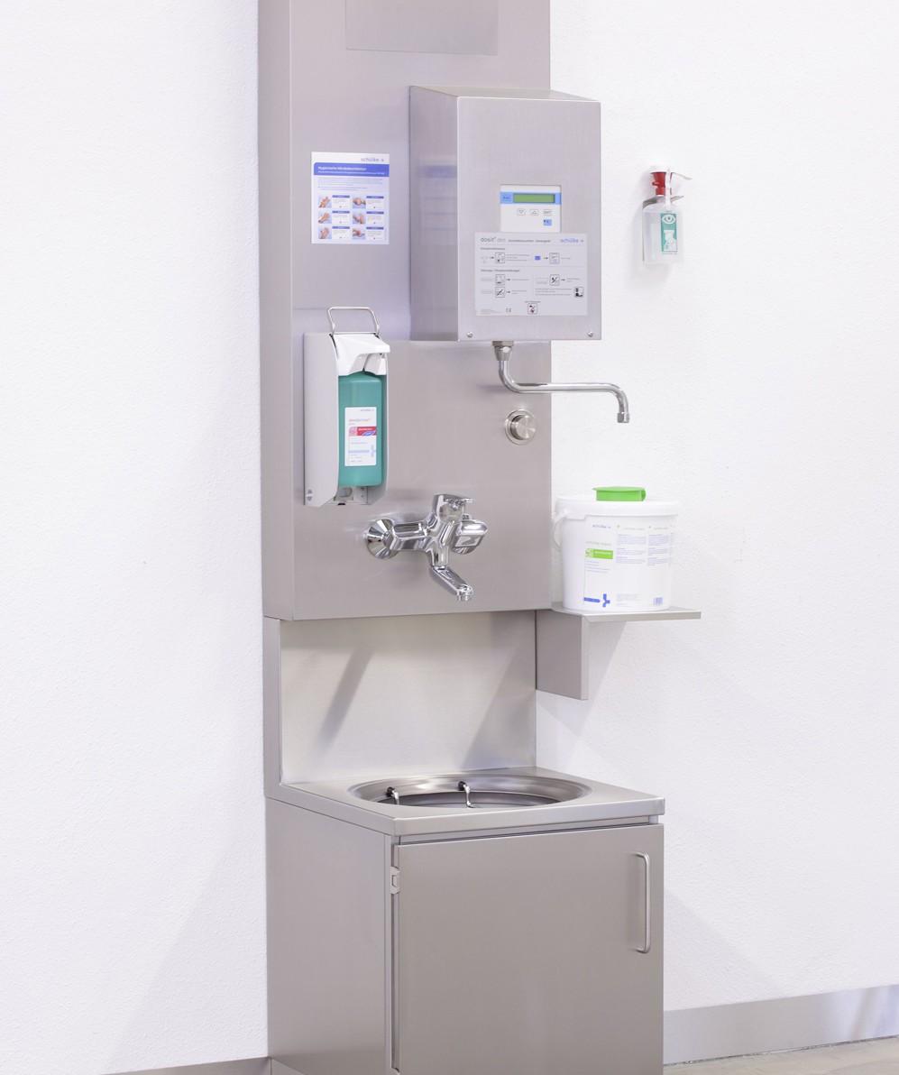 Das BECKER-Hygienepaneel zum Einsatz in unreinen Arbeitsräumen/Reinigungsstationen in Kliniken und Pflegeheimen oder Räumen mit ähnlichen Anforderungen.